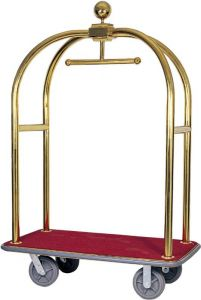 PV2001 Luggage cart and hangers Brass steel