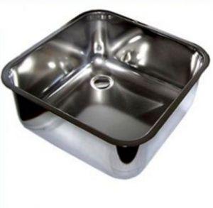 LV33/23 lavabo rectangular de acero inoxidable para el diámetro de la barra. 335 x 235 mm con la recogida de residuos