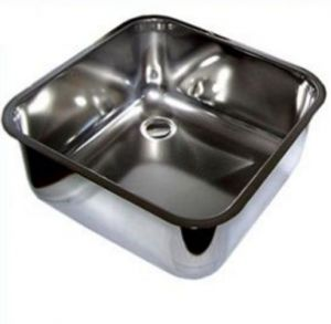 LV33/33 rectangular stainless steel sink for the bar diameter. 330 x 330 mm welded with waste