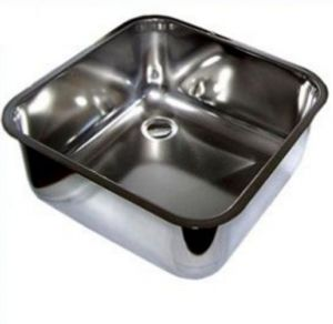 LV40/40/3 Vasca di lavaggio in acciaio inox dim. 400x400x300h a saldare