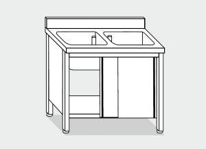LT1011 Laver Cabinet sur l'acier inoxydable
