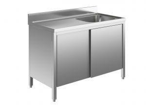 EU01602-12 lavatoio armadio ECO cm 120x60x85h  1 vasca e sg sx - porte scorrevoli