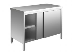 EU03200-17 tavolo armadio ECO cm 170x60x85h  piano liscio - porte scorrevoli