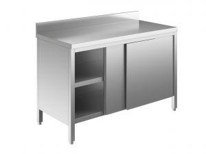 EU03201-19 tavolo armadio ECO cm 190x60x85h  piano alzatina - porte scorrevoli