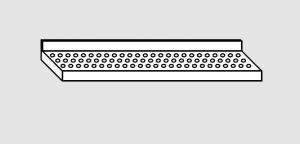 EU63901-19 ripiano a parete forato ECO cm 190x38x4h