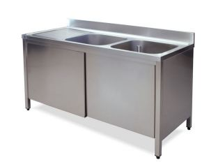 LT1017 Wash Cabinet on stainless steel