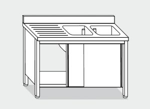 LT1018 Wash Cabinet on stainless steel