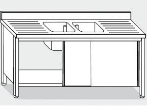 LT1022 Laver Cabinet sur l'acier inoxydable