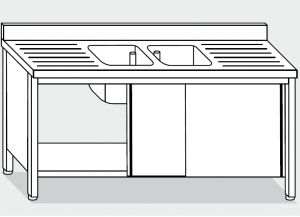 LT1023 Wash Cabinet on stainless steel