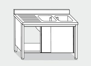 LT1045 Laver Cabinet sur l'acier inoxydable