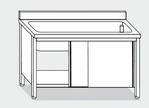 lave-vaisselle LT1054 dans le cabinet en acier inoxydable