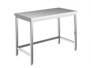 EUG2207-13 tavolo su gambe ECO cm 130x70x85h-piano liscio - telaio inferiore su 3 lati