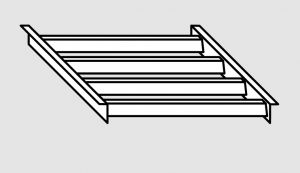 EU91201-04 Griglia per lavapentole in acciaio inox dim. Cm. 34x50