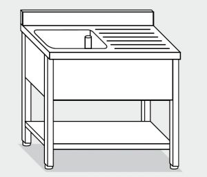 LT1122 Wash legs with stainless steel shelf