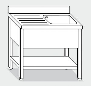 LT1126 Wash legs with stainless steel shelf