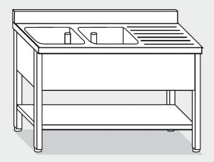 LT1133 Wash legs with stainless steel shelf