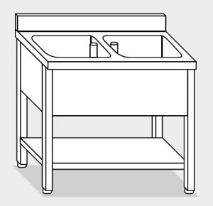 LT1161 Wash legs with stainless steel shelf