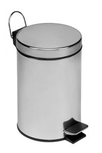 T101030 Polished Stainless Steel Pedal Bin 3 liters (multiple 6 pcs)