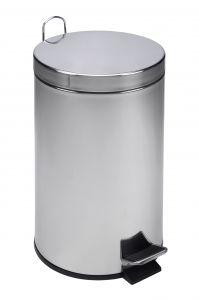 T101120 Cubo de basura con pedal de acero inoxidable 12 litros (múltiplos de 4 piezas)