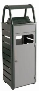 T103010 Gettacarte con posacenere 25+4 grigio per esterni