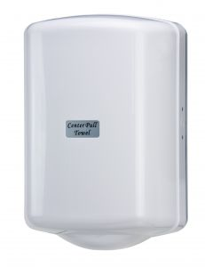 T104025 Distributore di carta in bobina srotolamento centrale ABS bianco