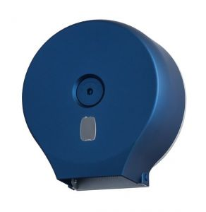 T104001STBL Roll toilet paper dispenser abs blue soft touch 200 m