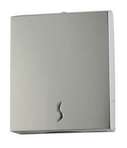 T105014 Distributore carta asciugamani acciaio inox AISI 430 satinato 400 fogli