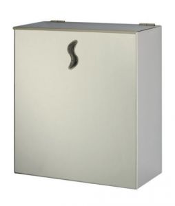 T105062 AISI 304 Polished stainless steel Wall mounted waste bin