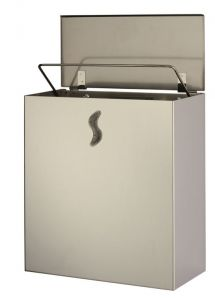 T105063 AISI 304 brushed stainless steel Wall mounted waste bin