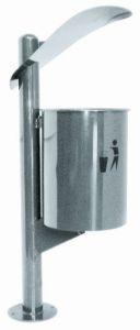 T106061 Gettacarte in acciaio inox per esterno