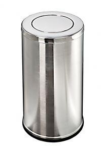 T106081 Gettacarte acciaio inox coperchio basculante 36 litri