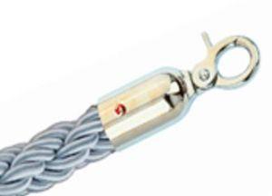 T106323 Cordone grigio gancio inox per sistema divisorio 1,5 metri