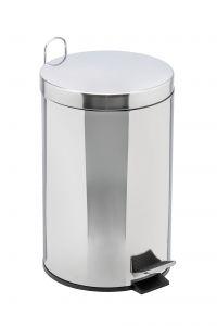 T106412 Pattumiera acciaio inox secchio galvanizzato pedale 12 litri (multipli 2 pz)