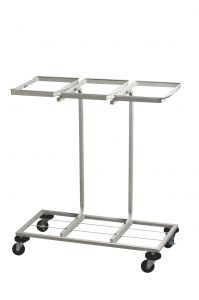 T108010 Recycling sack holder on wheels