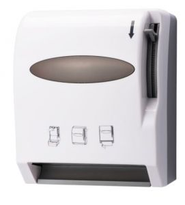 T110536 Lever activated roll towel dispense