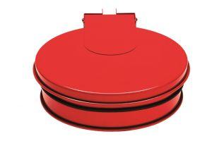 T601015 Reggisacco con coperchioin acciaio Rosso