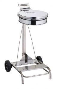 T601041 Portasacco mobile acciaio inox AISI 430 con coperchio e pedale