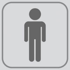 T701021 Plaque pictogramme PVC adhésif Toilettes Hommes (multiple de 5)