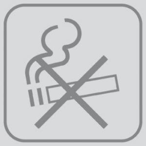 T701027 Plaque pictogramme PVC adhésif Ne pas fumer (multiple de 5)