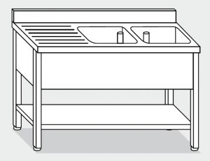 LT1169 Wash legs with stainless steel shelf