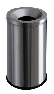 T770010 Gettacarte antifuoco acciaio inox satinato 50 litri