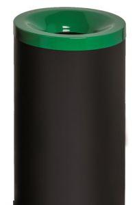 T770018 Gettacarte antifuoco corpo metallo nero coperchio Verde 50 litri