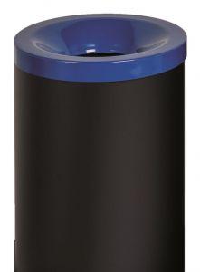 T770025 Gettacarte antifuoco corpo metallo nero coperchio Blu 90 litri
