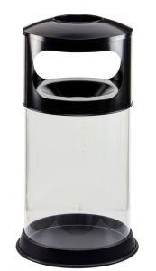 T774001 Gettacarte antifuoco trasparente con posacenere 110 litri