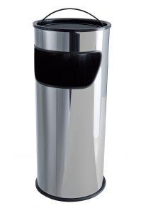 T775010 Papelera-cenicero 25 litros acero inox con arena