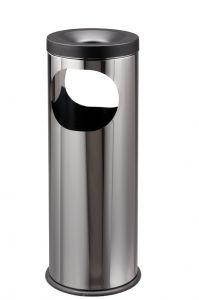 T775020 Papelera-cenicero acero inox Doble apertura 19 litros
