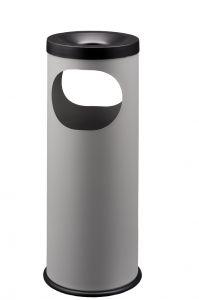 T775022 Papelera-cenicero metal gris Doble apertura 19 litros