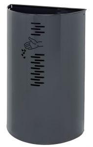 T778061 Gettacarte in acciaio grigio per esterno 40 litri