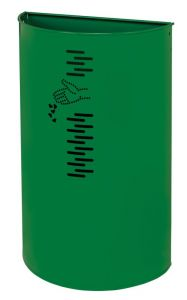 T778062 Gettacarte in acciaio verde per esterno 40 litri