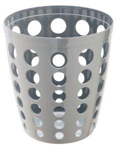 T906402 Gettacarte in plastica traforato grigio 12 litri